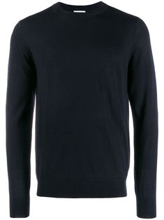 Navy blue wool round neck jumper from sandro paris featuring long sleeves and a ribbed hem and cuffs. Sandro, Marine Blue, Navy Blue, Paris, Blue Wool, Size Clothing, Baby Design, Crew Neck, Women Wear