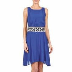 Vestido azul con detalle cintura