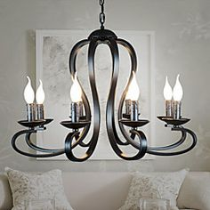 8  iron lifting dual-purpose ceiling living room chandelier chandelier Restaurant – AUD $ 366.78