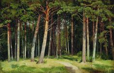 pine forest paintings - Google Search