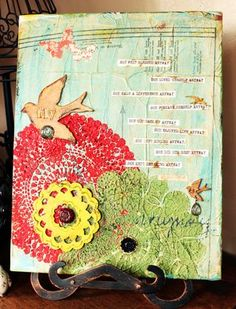 mixed media:  i love this so much!  making one of my own soon.  i can't wait :)