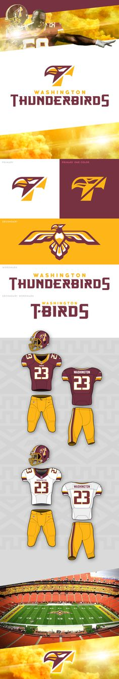 Washington Thunderbirds Brand Concept on Behance