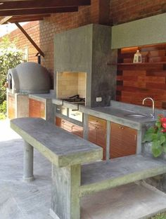 """Acquire terrific ideas on """"outdoor kitchen countertops grill area"""". They are actually offered for you on our web site. Outdoor Kitchen Sink, Outdoor Kitchen Countertops, Outdoor Kitchen Design, Outdoor Kitchens, Outdoor Cooking Area, Outdoor Spaces, Outdoor Living, Outdoor Decor, Rustic Outdoor"""