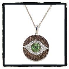 CB evil eye necklace