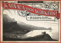 Poster/Advertisement - An advertisement for jobs in Karnaca.