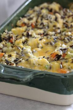 "chicken and wild rice casserole- one pinner said ""this is the BEST recipe I have made from Pinterest. We LOVED it. Perfect to make when people come over, to freeze, or for a family in need of a meal. "" NO mayo, no cream soup."