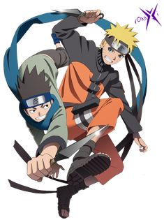 Naruto y Konohamaru by rOkkX on deviantART