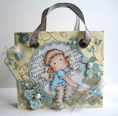 Nixe07 - Moni´s creative place: Kleine Geschenktasche / Small Gift Bag ... Step by Step