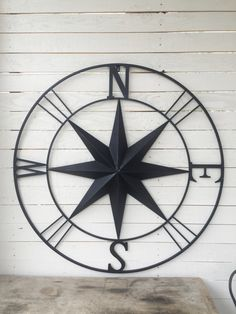 Elegant Metal Compass Nautical Wall Art Nautical Decor By CamillaCotton