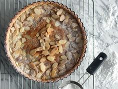 Marzipan Apricot Tart from Epicurious. I would add a little drizzle of Rompope on top just for effect and a little rummy flavor.