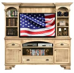 Poplar Entertainment Hutch And Base   Unfinished Furniture Of New Jersey,  New York And Pennsylvania Offering Unfinished Tv And Vcr Cabinets, ...