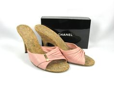 Vintage Chanel Shoes - Pink Slides, Mules Size 37 from Antiques on Ascot at 30% off during the 72 Hour Ruby Lane Red Tag Sale going on now through Monday, Sept. 26th 8am Pacific on Ruby Lane #RRTS #rubylane