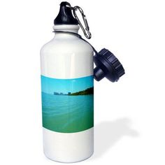 3dRose Marco Island in the Florida Everglades, Sports Water Bottle, 21oz