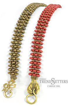 Rondelle Row beaded bracelet by TrendSetter Carole Ohl -- Free Pattern