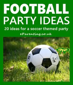 Soccer Football Party Ideas Kids Football Parties, Soccer Birthday Parties, Football Birthday, Soccer Party, Soccer Theme, Soccer Games, Football Soccer, Worldcup Football, Kids Soccer