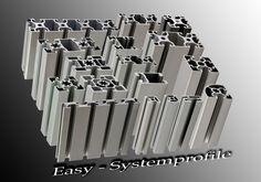 Easy-Systemprofile - Easy-Systemprofile, Maschinenbauprofile, Aluprofile, Alu-Profile, Nutprofile Strebenprofile Arbeitsplatz Arbeitstisch Gestell Aluminiumprofile Saarland