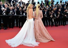 """(L-R) Hofit Golan and Victoria Bonya attend the """"Ismael's Ghosts (Les Fantomes d'Ismael)"""" screening and Opening Gala during the 70th annual Cannes Film Festival at Palais des Festivals on May 17, 2017 in Cannes, France."""