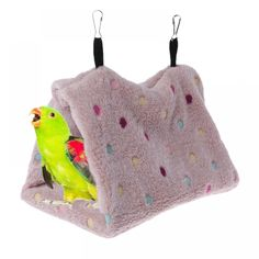 Pet Products New Bird Parrot Warm Plush Hammock Cage Happy Hut Tent Bed Hanging Cave Swing Toys C42 Home & Garden