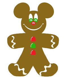 CHRISTMAS GINGERBREAD MICKEY MOUSE CLIP ART