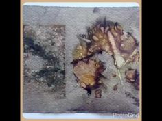 Eco dyed paper by Rita Summers - YouTube