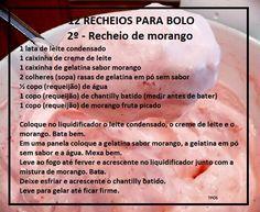 Easy Donut Recipe, Donut Recipes, Cake Recipes, Dessert Recipes, Desserts, Brazillian Food, Cake Fillings, Tasty, Yummy Food