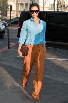 Street style# Victoria Beckham#❤