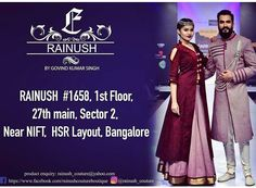 """""""Be unique, Be you!"""" Customised clothing at RAINUSH DESIGN STUDIO our new outlet in HSR layout.  Also find  all designer bridal outfits and indian wedding outfits from the exclusive collection of RAINUSH by Govind Kumar Singh.  #Rainush #Rainushcouture #Rainushofficial #Rainushdesignstudio #Govindkumarsingh #BangaloreFashionWeek #Black #Blackcloth #blackdesignerwear #gowns #lehnga #choli #ghagra #saree #jacket #womenswear #menswear #partywear #ethnicwear #bridalwear #Bridalshop…"""