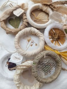 crafts using wooden shower curtain rings   These are fun to make! I only made 8 out of 10, though, because my ...