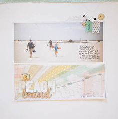 Beach Bound - Marcy Penner for Studio Calico, Love the way she layers vellum in her sunburst, really gives the feeling of rays of sunshine.