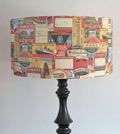could decopage plain lamp shades...but with maps or fabric