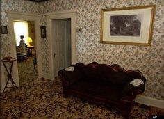 Lizzie Borden house - living room where Mr. Borden's body was found