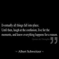 All things happen for a reason