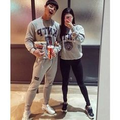 Designer Clothes, Shoes & Bags for Women Korean Couple, Hipster, Graphic Sweatshirt, Shoe Bag, Couples, Sweatshirts, Sweaters, Shopping, Collection