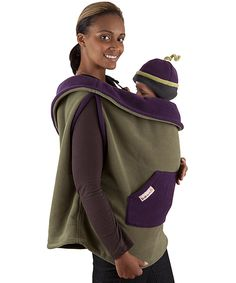 { I wish I had had this ! } Turtle & Eggplant Fleece Baby Carrier Cover | Daily deals for moms, babies and kids