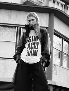 STOP ACID RAIN - Katherin Hamnett Coat: Issey Miyake Styling: Romain Liegaux
