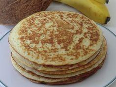 Crêpes noix de coco-banane sans gluten et sans lactose et sa petite sauce au chocolat-piment d'Espelette...