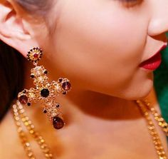 Now available on our store:  Baroque Luxury Ye... Check it out here ! http://mamirsexpress.com/products/baroque-luxury-yellow-gold-fashion-earring-crystal-drop-earrings-pearl-flower-cross-earrings-for-women-jewelry?utm_campaign=social_autopilot&utm_source=pin&utm_medium=pin