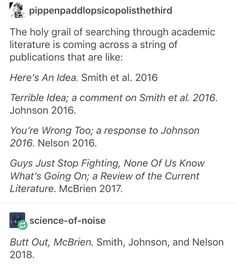 I've actually seen this when shifting through articles. it's hilarious
