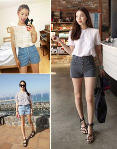 Today's Hot Pick :Crease Fade Buttoned Shorts http://fashionstylep.com/SFSELFAA0022912/bagazimurien/out Cute and casual shorts for laid-back dressing. These shorts have a slim fit with mid-rise waist, belt loops, buttons down the front, front and back pockets and mid-thigh length. The unique crease fade details make these shorts edgy. Wear with a tee or blouse and sandals. -Mid-rise -Belt loops -Front buttons -Front and back pockets -Mid-thigh -Crease fade details -Slim fit -Available ...