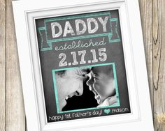 New Dad First Father's Day Gift ~ Personalized Custom Printable Daddy Photo Subway Art ~ Digital Image JPEG File ~ From Kids Son Daughter by SubwayStyle on Etsy