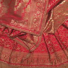 BENARAS ❤️ Sarees for life. These gorgeous Benarsi silk sarees has just been finished. When it came over from the workshop I was taken… Banaras Sarees, Handloom Saree, Silk Sarees, Saris, Bridal Silk Saree, Saree Wedding, Saree Blouse Patterns, Saree Blouse Designs, Indian Wedding Wear