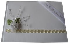 Personalised Silk Wedding Guest Book available in White Ivory or craft brown - customised to your requirements  Hot Graphix & Signs