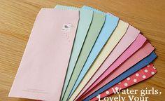 Colorful Envelope Set - Feeling - 10 Sheets. $5.00, via Etsy.