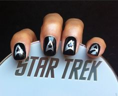 Star Trek Nails, via Flickr.