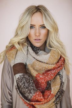Chunky Knit Boho Infinity Scarf with Leather Cuff by ThreeBirdNest, $88.00