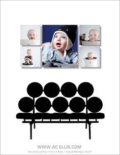 Newborn Portraits As A Wall Canvas Layout http://canvaslayouts.com/newborn-portraits-wall-canvas-layout/