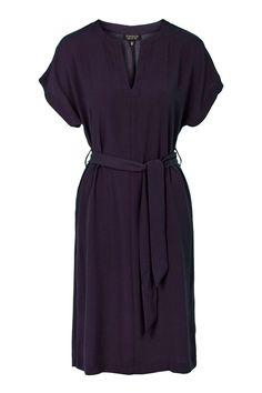 Photo 1 of V-Neck Belted Midi Dress