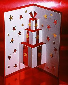 http://barnaclebill.hubpages.com/hub/popupchristmascards Beautiful idea for a pop-up Christmas Card! <3 it!