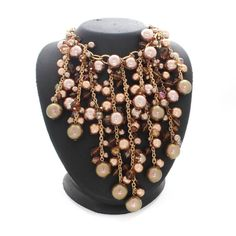 """QVC Rare Sold Out Joan Rivers Golden Couture Simulated Pearl 16"""" Necklace MR079 #JoanRivers #StrandString"""