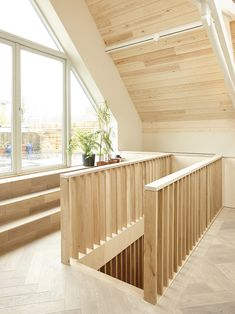 Alex Nikjoo transforms disused chapel into artist's house and studio Wood Railing, Stair Handrail, Railings, Modern Staircase, Staircase Design, Spiral Staircases, Flooring For Stairs, Interior Architecture, Interior Design